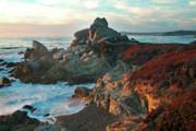 Ribera Beach Sunset Carmel California Print by Charlene Mitchell