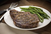 Green Bean Framed Prints - Ribeye Steak Framed Print by Rick Gayle Studio/Fuse