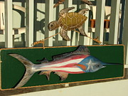 Flag Sculptures - Rican Marlin by Dos Artesanos