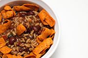 Kitchen Decor Prints - Rice And Beans With Chile Cheese Fritos Print by Andee Photography