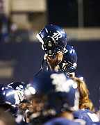 Conference Photos - Rice Football Helmets  by Anthony Vasser