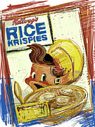Milk Mixed Media Prints - Rice Krispies Print by Russell Pierce