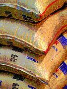 Food Photo Posters - Rice Sacks by Darian Day Poster by Olden Mexico