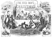 Father Christmas Prints - Rich Mans Christmas, 1855 Print by Granger