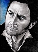 Pencils Framed Prints - Richard Armitage as John Thornton Framed Print by Joane Severin
