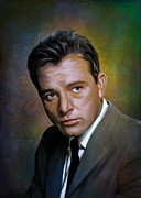 Manual Digital Art Framed Prints - Richard Burton  Framed Print by Andrzej  Szczerski