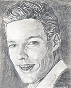 Old Drawings Posters - Richard Chamberlain Poster by Kate Black
