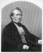 Statesman Framed Prints - RICHARD COBDEN (1804-1865). /nEnglish politician and economist. Steel engraving, English, 19th century Framed Print by Granger