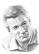 Graphite Framed Prints - Richard Gere Framed Print by Murphy Elliott