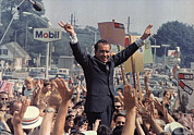 Nixon Metal Prints - Richard M. Nixon Campaigning Metal Print by Everett