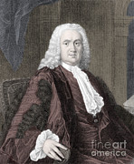 Historical Physician Framed Prints - Richard Mead, English Physician Framed Print by Science Source