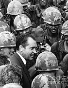 Us Presidents Framed Prints - Richard Nixon, 37th American President Framed Print by Photo Researchers