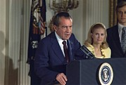Heartbreak Photo Prints - Richard Nixon Addressing His Cabinet Print by Everett