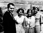 Future Presidents Prints - Richard Nixon And His Family Print by Everett