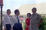 Agnew Photos - Richard Nixon And Spiro Agnew Visit by Everett