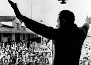 Gestures Photo Framed Prints - Richard Nixon Campaigning For Governor Framed Print by Everett