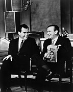 Future Presidents Framed Prints - Richard Nixon Chats With Jack Paar Framed Print by Everett