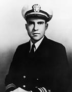 Richard Nixon. Navy Lieutenant Print by Everett