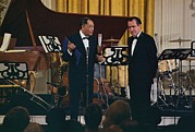 Jazz Singers Framed Prints - Richard Nixon Presenting Framed Print by Everett