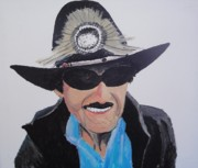 Famous Pastels Posters - Richard Petty Poster by Stephen Ponting