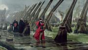 Warfare Painting Prints - Richelieu Print by Henri-Paul Motte