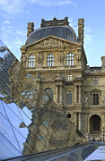 Richelieu Prints - Richelieu Wing of the Louvre Museum in Paris Print by Louise Heusinkveld