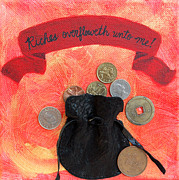 Affirmation Posters - Riches Overfloweth Poster by Paula Brett