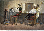 1850s Posters - RICHMOND BARBERSHOP, 1850s Poster by Granger