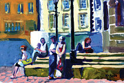 England Paintings - Richmond Bus Stop by Neil McBride by Featured Art