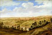 1640 Prints - Richmond Castle - Yorkshire Print by Alexander Keirincx