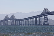 San Rafael California Framed Prints - Richmond-San Rafael Bridge in California - 5D18441 Framed Print by Wingsdomain Art and Photography