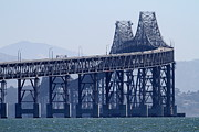San Rafael Bridge Posters - Richmond-San Rafael Bridge in California - 7D18536 Poster by Wingsdomain Art and Photography