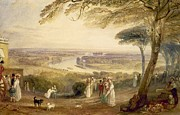 Haze Framed Prints - Richmond Terrace Framed Print by Joseph Mallord William Turner