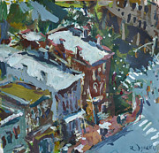 2011 Painting Prints - Richmond Virginia Cityscape Painting Print by Robert Joyner