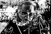 """photo-manipulation"" Mixed Media Framed Prints - Rick Ross Framed Print by The DigArtisT"