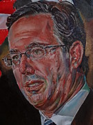 Romney Paintings - Rick Santorum by Alex Krasky