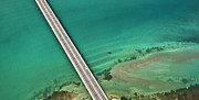 Florida Bridge Photos - Rickenbaker Causeway by Patrick M Lynch