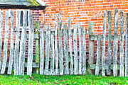 Old Fence Post Framed Prints - Rickety fence Framed Print by Tom Gowanlock