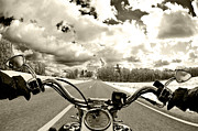 Black-and-white Photo Metal Prints - Ride Free Metal Print by Micah May