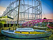 Roller Coaster Photos - Ride the WildCat by Colleen Kammerer