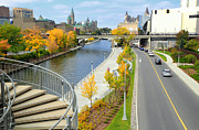Ottawa Framed Prints - Rideau Canal Framed Print by Charline Xia