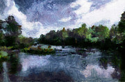 Photo Manipulation Originals - Rideau River View from a Bridge by Mario Carini