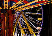 Amusements Framed Prints - Rides Framed Print by Michael Friedman