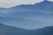 Great Smokey Mountains Prints - Ridgelines Great Smoky Mountains Print by Rich Franco