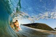 Excite Prints - Riding Barrel at Makena Print by Quincy Dein - Printscapes