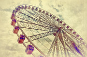 Ferris Wheel Framed Prints - Riding High Framed Print by Kathy Jennings
