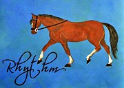 Horse Training Art Prints - Riding Rhythm Print by JAMART Photography