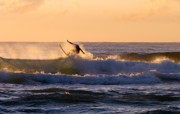 Surfer Photos - Riding the Crest by Mike  Dawson