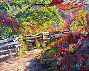 Pathways Painting Originals - Riding the Fences by David Lloyd Glover