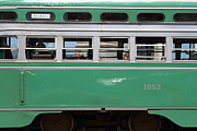 Buses Posters - Riding The Green Trolley Train In San Francisco . 7D14254 Poster by Wingsdomain Art and Photography